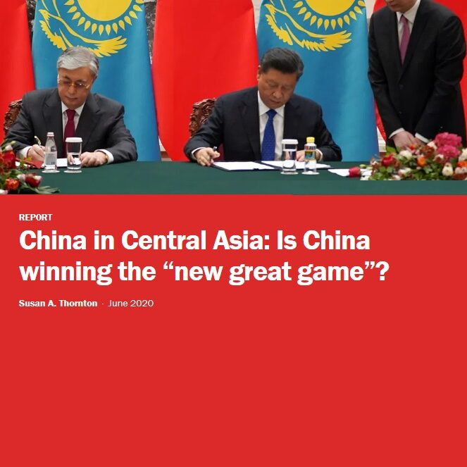 """China in Central Asia - Is China winning the """"new great game"""" by Susan A. Thornton"""